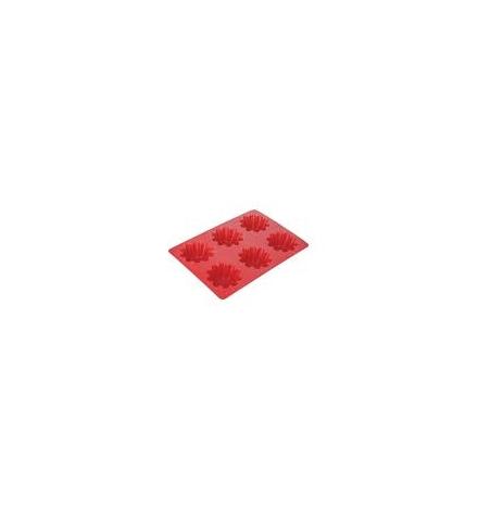 Forma 6 květinek DELÍCIA SILICONE, červená