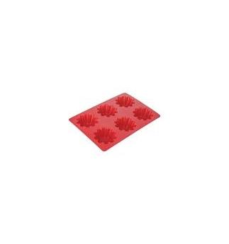 Forma TESCOMA 6 květinek DELÍCIA SILICONE, červená