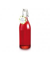 Láhev s klipem hranatá DELLA CASA 1000 ml