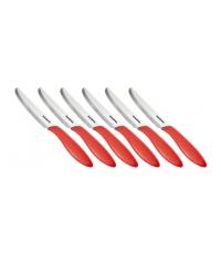 Nůž jídelní PRESTO 12 cm, 6 ks, červená