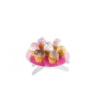 Stojan na dort DELÍCIA, růžové lístky