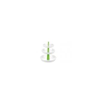 Etažérka 3-patrová PRESTO, hluboká, zelená