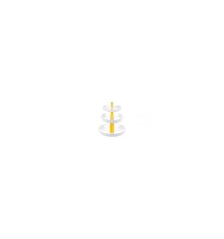 Etažérka 3-patrová PRESTO, hluboká, žlutá