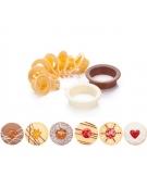 Vykrajovátka tradiční na linecké cukroví DELÍCIA, 8 ks