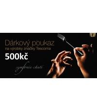 Dárkový poukaz 500kč, černý