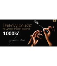 Dárkový poukaz 1000kč, černý