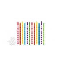 Dortové svíčky DELÍCIA KIDS 10 cm, 12 ks