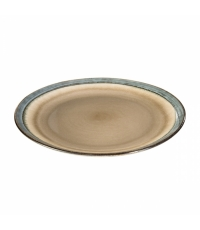 Mělký talíř EMOTION pr. 26 cm, hnědá