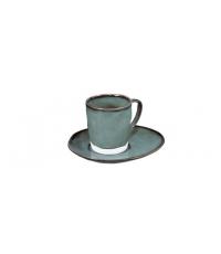 Šálek na espresso LIVING, s podšálkem, zelená