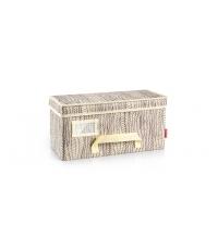 Krabice na oděvy FANCY HOME 40 x 18 x 20 cm, smetanová
