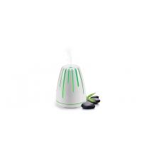Ultrasonická aromalampa FANCY HOME, Lava, bílá