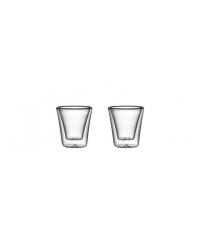 Dvoustěnná sklenice myDRINK 70 ml, 2 ks