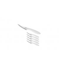Nůž na pizzu PRESTO 10 cm, 6 ks, bílá