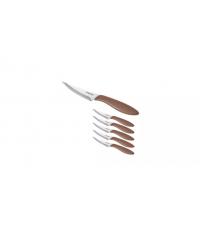 Nůž na pizzu PRESTO 10 cm, 6 ks, hnědá