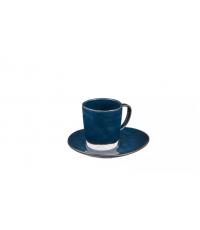 Šálek na espresso LIVING, s podšálkem, modrá