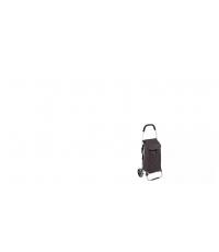 Nákupní taška na kolečkách SHOP!, hnědá