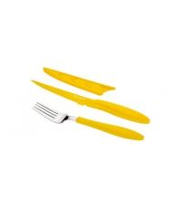Ant.nůž steak.a vidlička PRESTO TONE, žlutá
