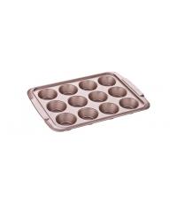 Forma 12 muffinů DELÍCIA GOLD 39x28 cm
