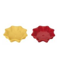 Forma na koláč hvězda DELÍCIA SILICONE pr. 28 cm, žlutá