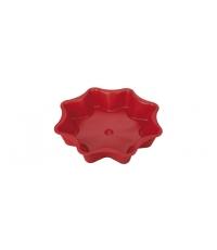 Forma na koláč hvězda DELÍCIA SILICONE pr. 28 cm, červená