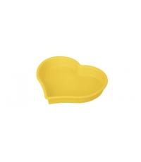 Forma srdcová DELÍCIA SILICONE 24 cm, žlutá