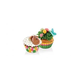 Cukrářské mini košíčky DELÍCIA pr. 4 cm, 100 ks, jarní