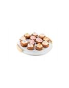 Podnos na muffiny s nízkým poklopem DELÍCIA pr. 34 cm