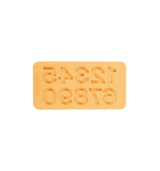 Silikonové TESCOMA formičky DELÍCIA DECO, čísla, žlutá