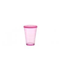 Pohár s víčkem myDRINK 400 ml, růžová