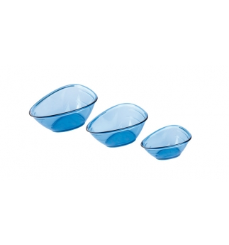 Odměrky nálevky PRESTO, 3ks, modrá