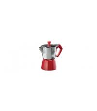 Kávovar PALOMA Colore, 1 šálek, červená
