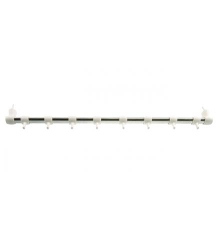 Závěsná lišta světlá UNO 50 cm, 8 háčků